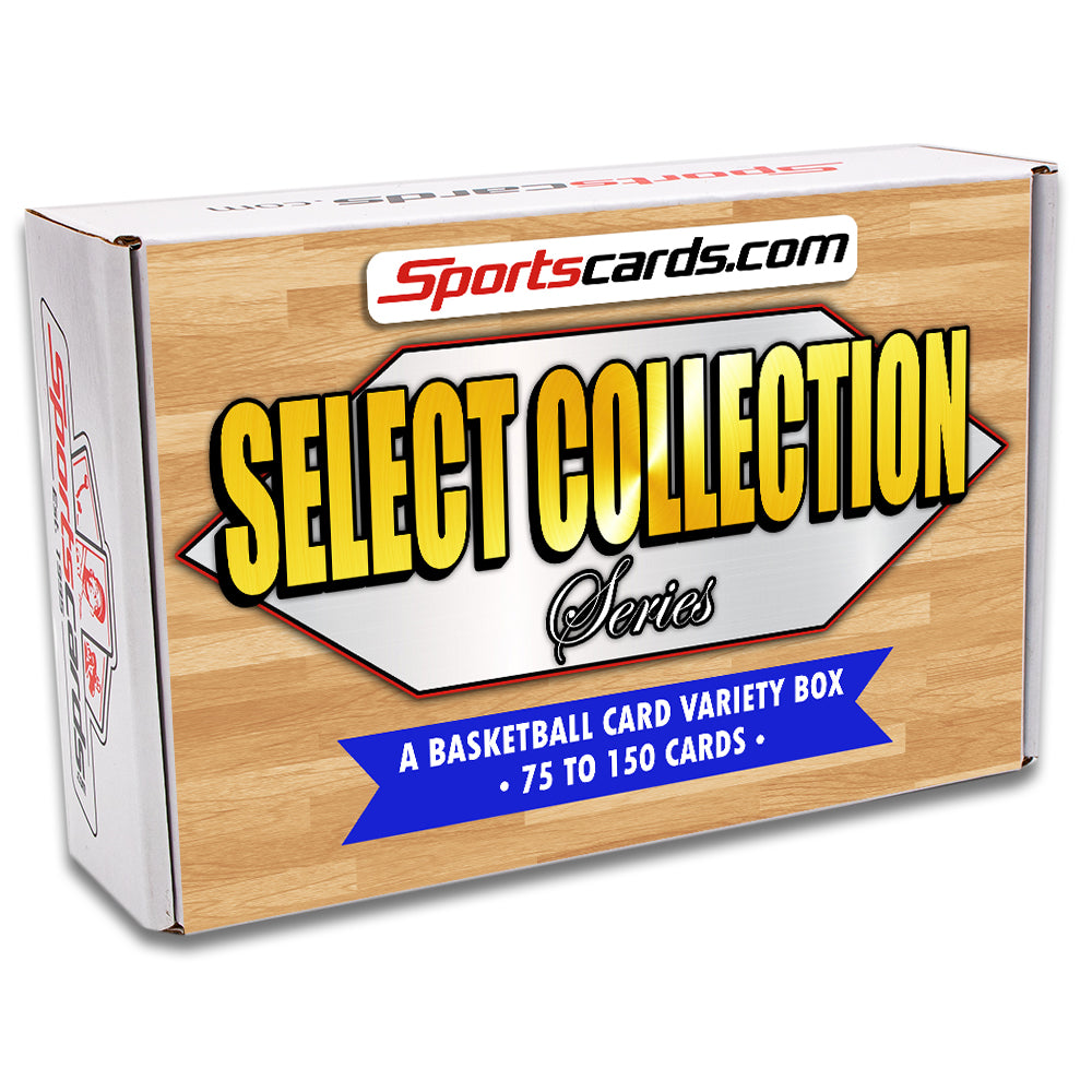 """Select Collection Series"" Basketball Card Variety Box – 75 to 150 Cards!"
