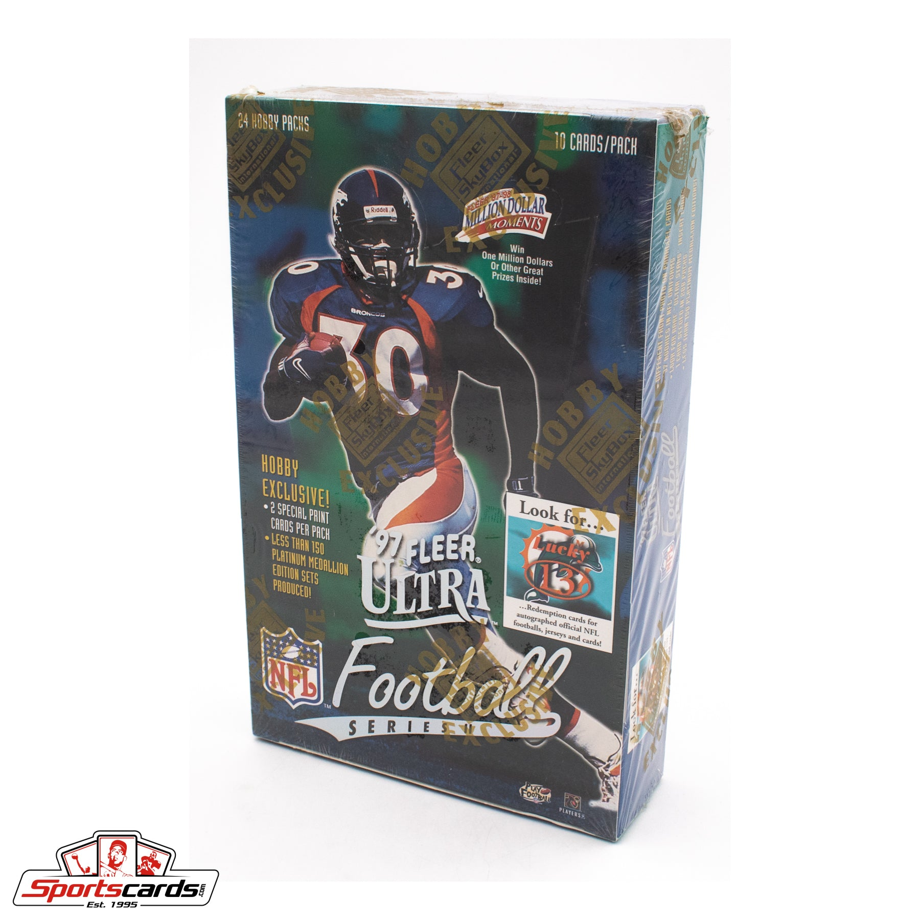 1997 Fleer Ultra Football Series 2 Hobby Factory Sealed Box