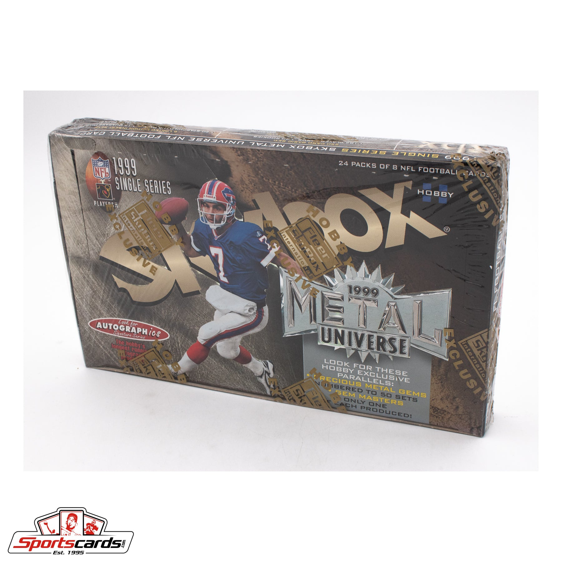 1999 Fleer Skybox Metal Universe Football Hobby Factory Sealed Box