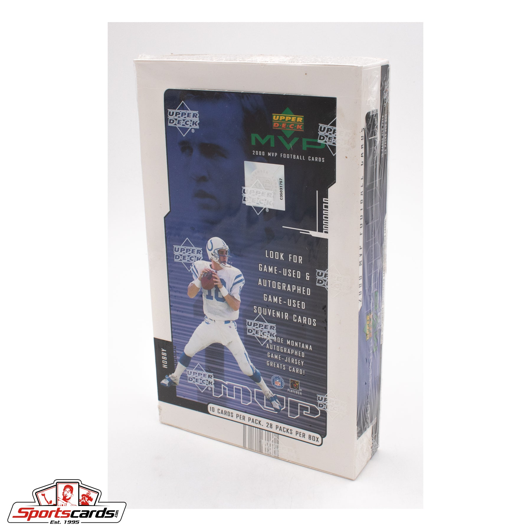2000 Upper Deck MVP Football Cards Hobby Factory Sealed Box