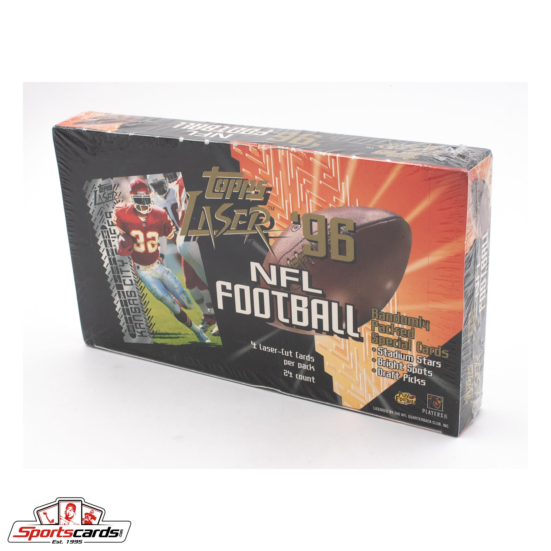 1996 Topps Laser NFL Football Factory Sealed Box