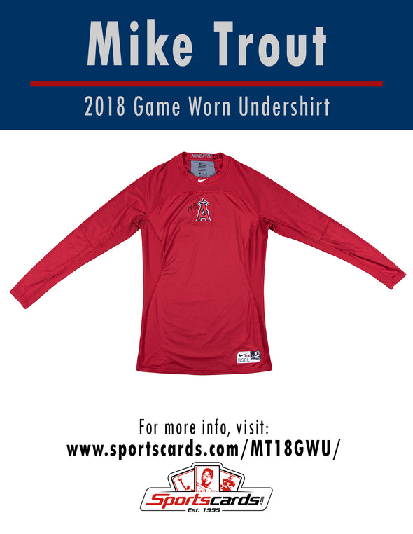 Mike Trout 2018 Anaheim Angels Game Worn Undershirt Mystery Swatch Box