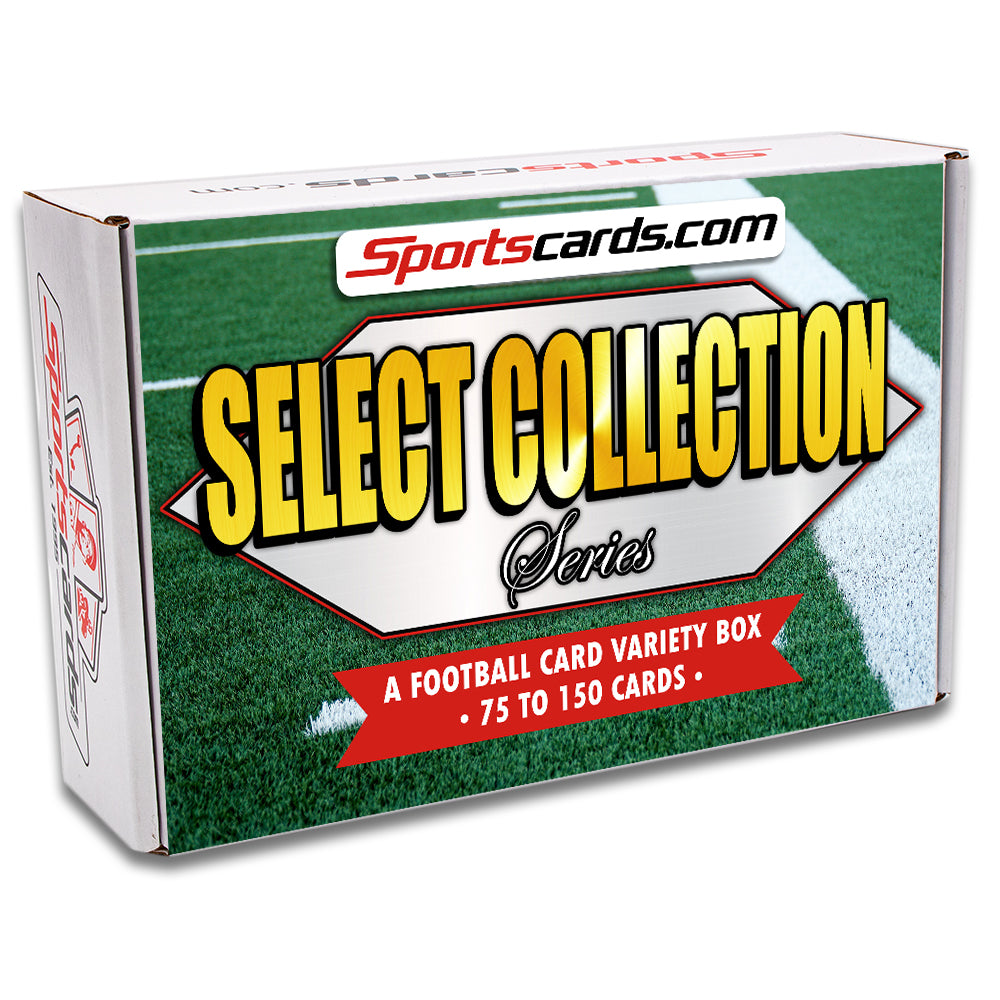 """Select Collection Series"" Football Card Variety Box – 75 to 150 Cards!"