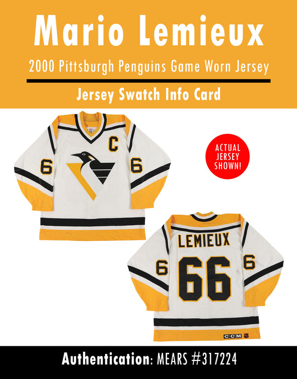 Mario Lemieux 2000 Pittsburgh Penguins Game Worn Jersey Mystery Swatch Box