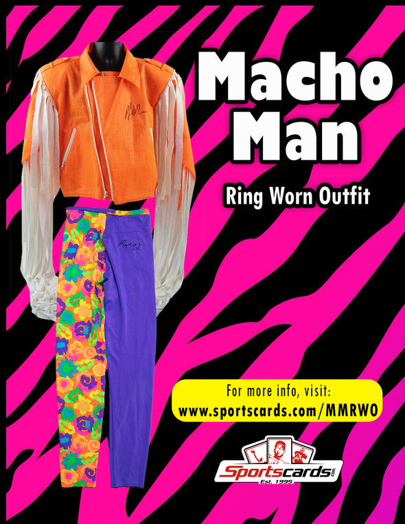 Macho Man Randy Savage Worn Outfit Mystery Swatch Box - 1 or 2 Per Box!