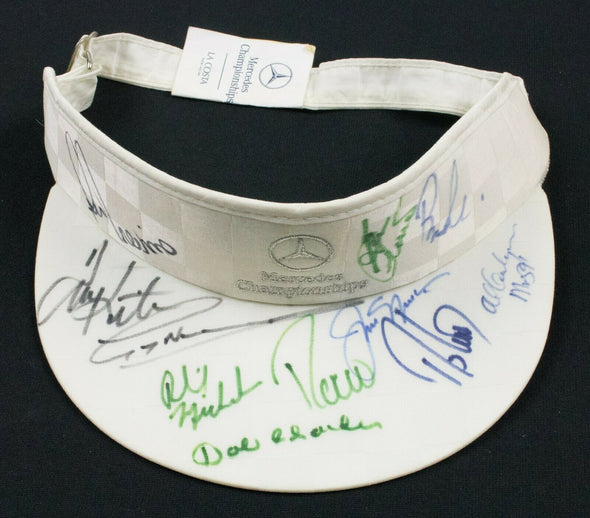 Golf Visor Signed by 11 PGA Golfers Mercedes Championship Nicklaus Mickelson