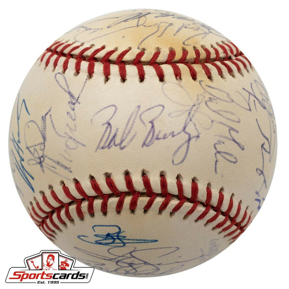2001 Arizona Diamondbacks Team Signed Baseball Beckett BAS LOA RARE (38) Autos