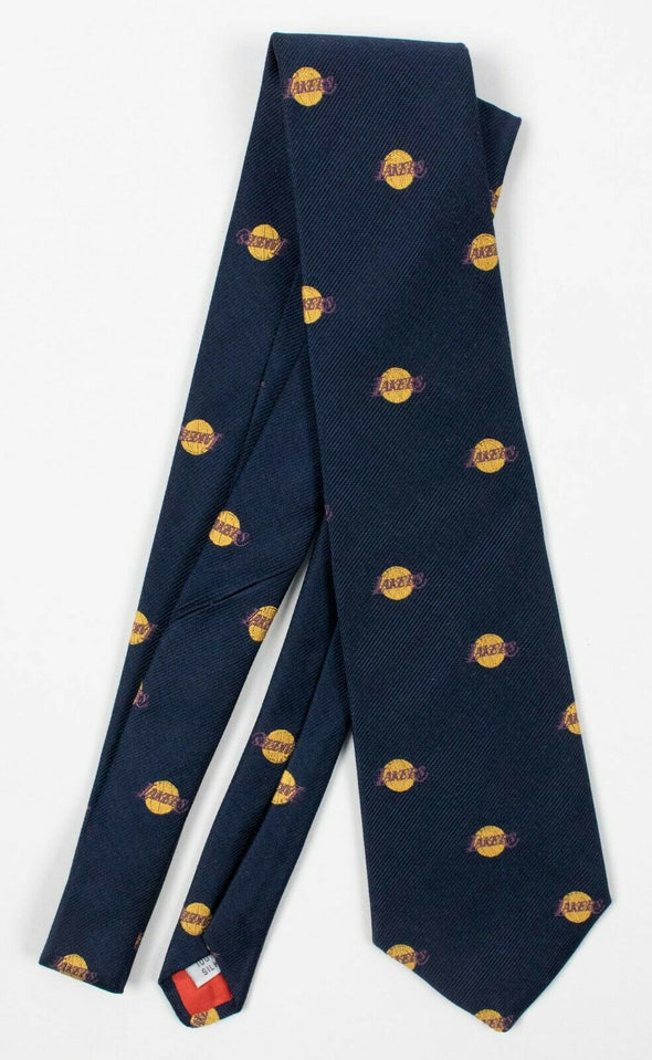 "Los Angeles Lakers Team Exclusive 100% Silk Tie 55"" 1970's or 80's"