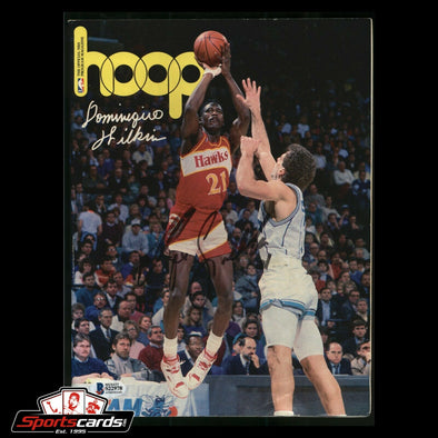Dominique Wilkins Signed Hoop Magazine BAS Beckett Auto NBA Atlanta Hawks