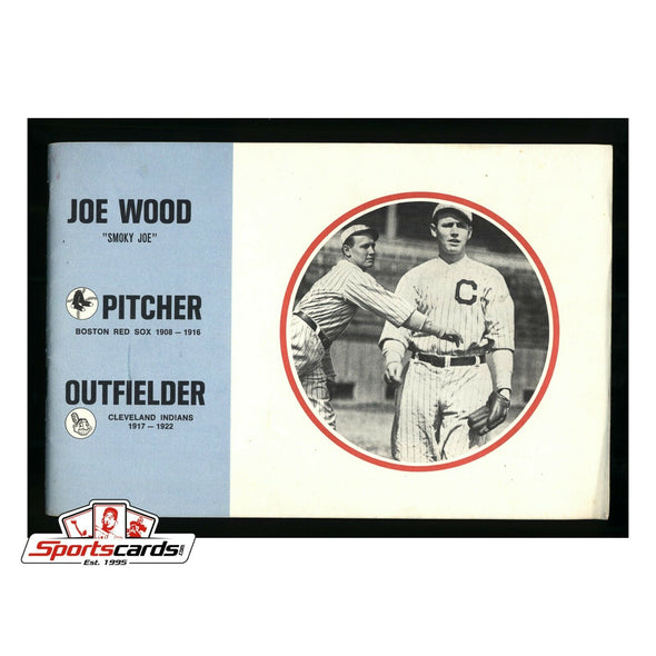 Joe Smoky Wood Rare 1972 Committee to Elect Him to Hall Of Fame Booklet