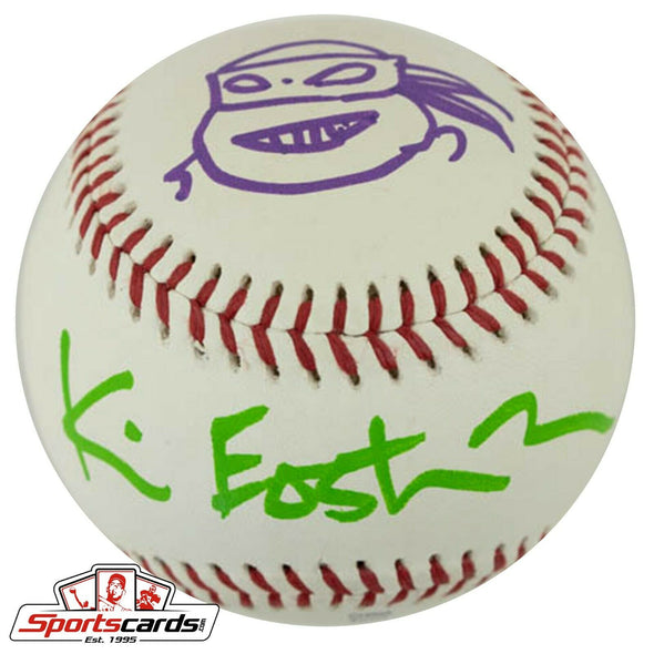 TMNT Kevin Eastman Signed PCL Baseball JSA COA + Donatello Sketch