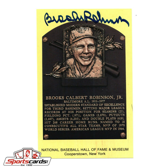 Brooks Robinson Signed Hall of Fame Postcard BAS Beckett