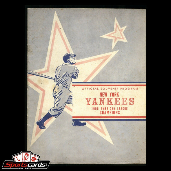 1955 New York Yankees Hawaii program Yankees vs. Hawaii Red Sox