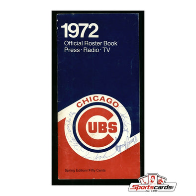 1972 Chicago Cubs Signed Press Roster Book 16 Signatures