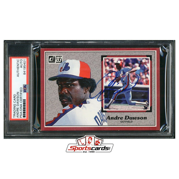 Andre Dawson Signed 1983 Donruss Oversize Trading Card PSA/DNA Expos Auto