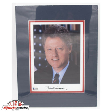Bill Clinton Signed 8x10 Photo Matted to 11x14 Beckett LOA