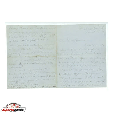 Christy Mathewson 1900 Rookie Handwritten Signed Auto Letter BAS JSA PSA LOAs