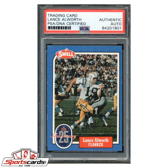 Lance Alworth 1988 Swell HOF Greats Auto Signed Card PSA/DNA Authentic Chargers
