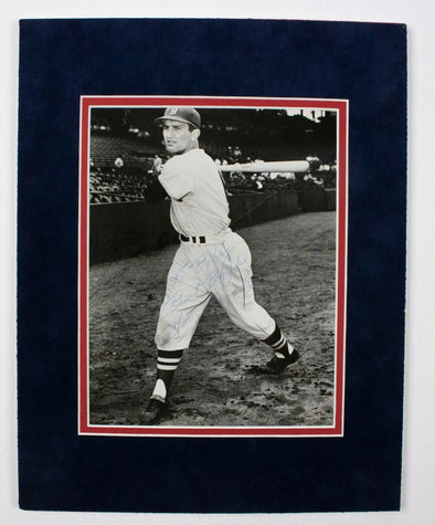 Harry Agganis Signed Matted 8x10 Photo BAS LOA Boston Red Sox