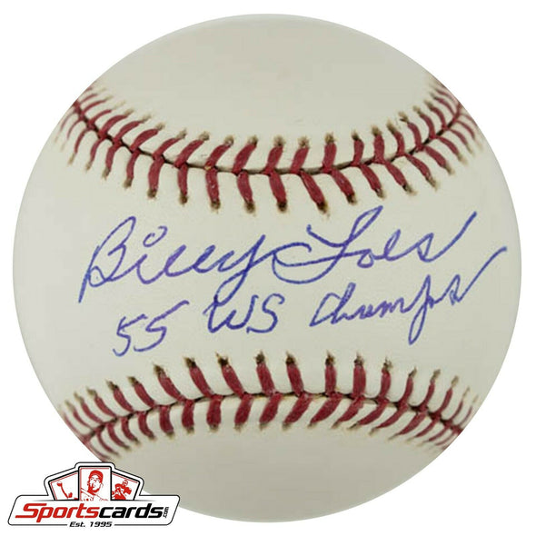 Billy Loes Signed Rawlings OML Baseball D. 2010 Brooklyn Dodgers JSA COA