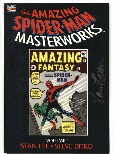 The Amazing Spider-Man Masterworks Vol 1 Signed Twice by Stan Lee JSA COA