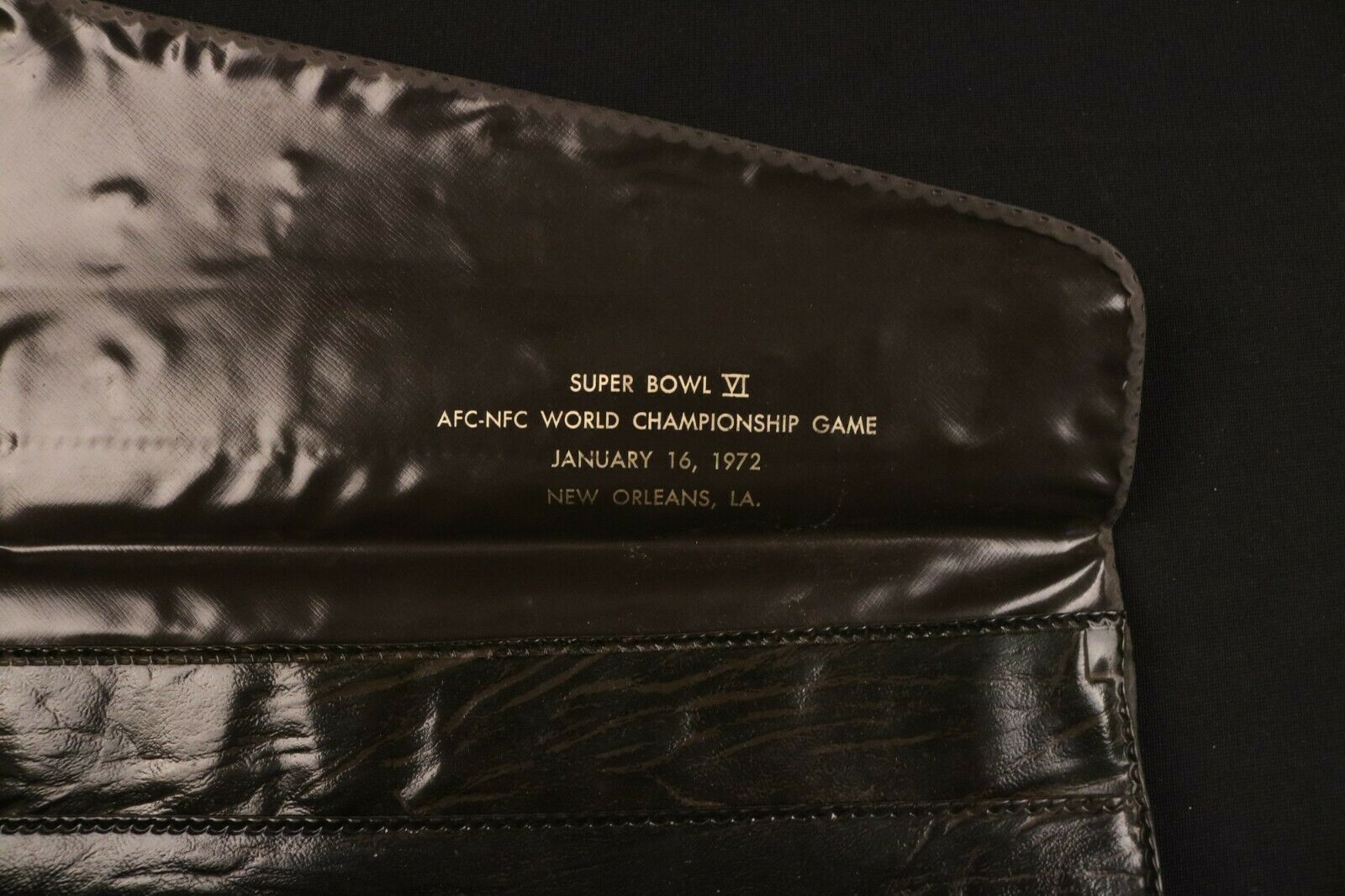 Super Bowl VI Briefcase Bag Folio 1972 New Orleans Dallas Cowboys Rare