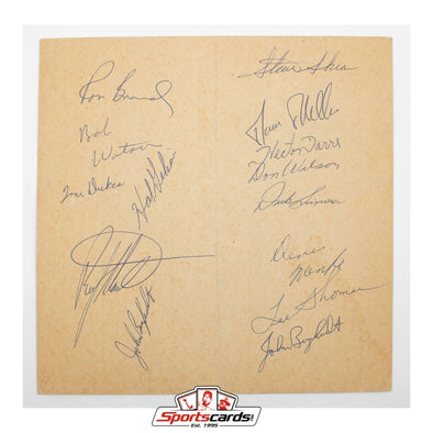 1968 Houston Astros Signed Page 18 Autographs MLB