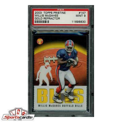 Willis McGahee 2003 Topps Pristine Gold Refractor #147 PSA 9 Mint