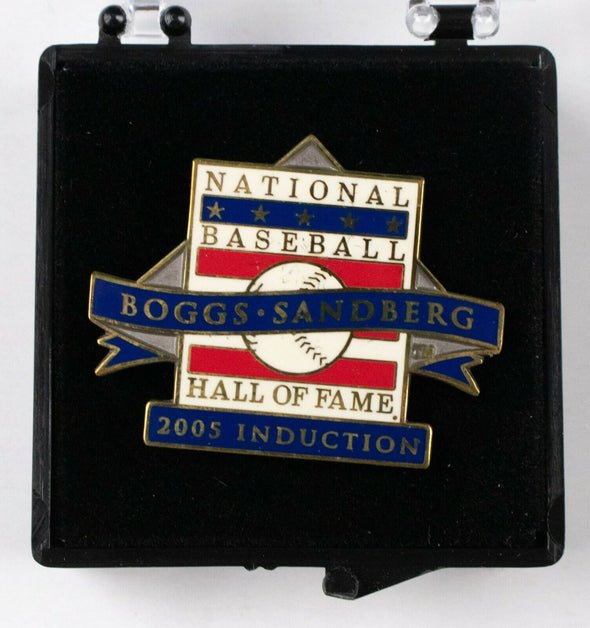 2005 MLB Hall of Fame Induction Press Pin Wade Boggs Ryne Sandberg