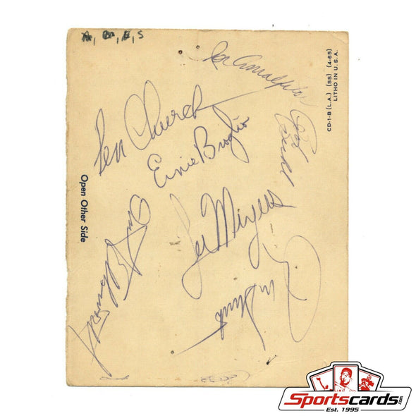 1966 Chicago Cubs Signed Cut Page 7 Autographs MLB Santo
