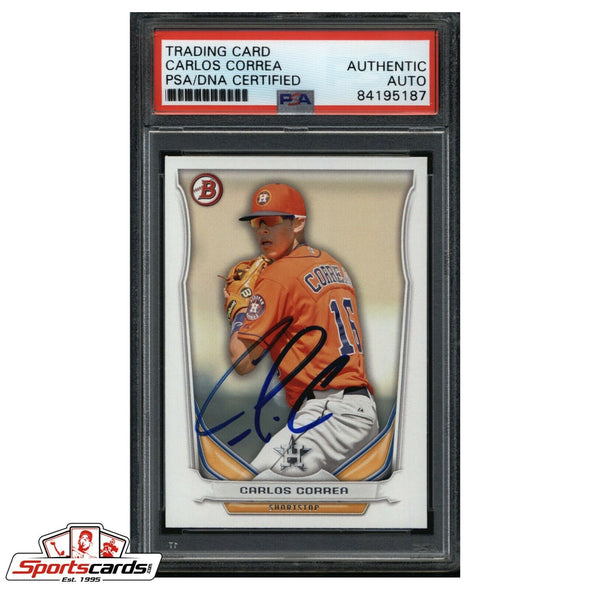 Carlos Correa Signed 2014 Bowman Card PSA/DNA  Authentic Auto