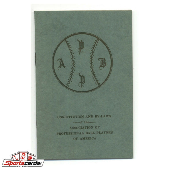 Association of Professional Ball Players 1924 Constitution and By-Laws Booklet