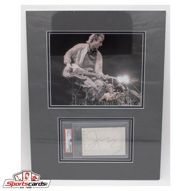 Sting Singer Songwriter PSA/DNA Signed Cut Matted with 8x10 Photo