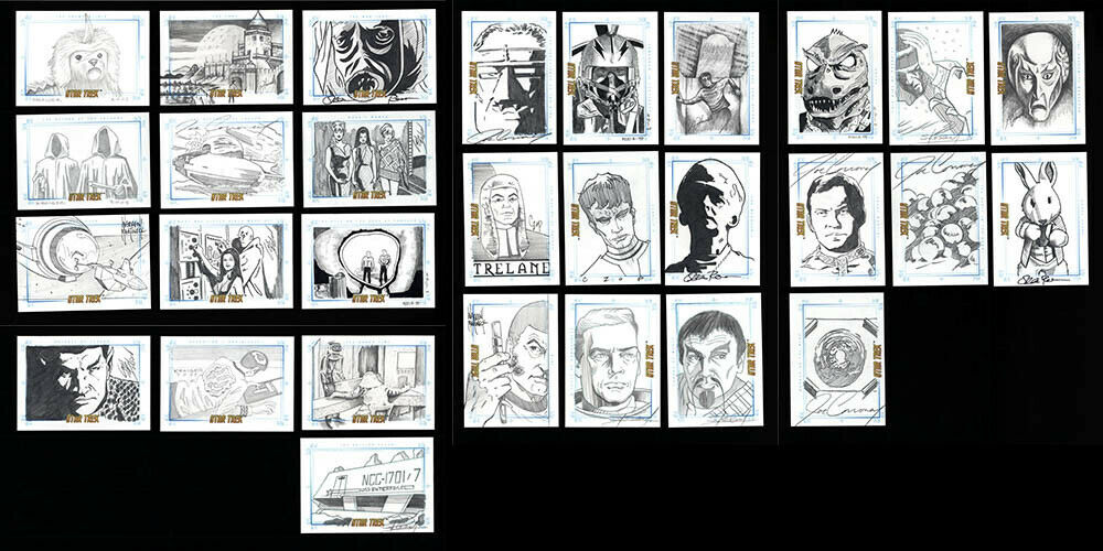 29 card Lot Star Trek The Original Series Sketchafex Sketch 2005 Rittenhouse