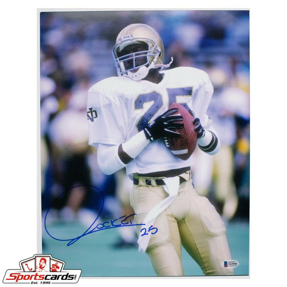 Raghib Rocket Ismail Signed 11x14 Photo Notre Dame NCAA Beckett BAS Auto