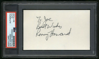 RON HOWARD Signed 3X5 Index Card Vintage Ronny Auto Director PSA/DNA