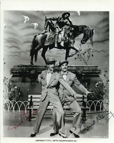 Fred Astaire Gene Kelly Signed 8x10 Photo Autograph Ziegfeld Follies BAS Beckett