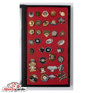 1982 - 2016 Baseball Hall Of Fame Induction Press Pin Collection 35 Pins Display