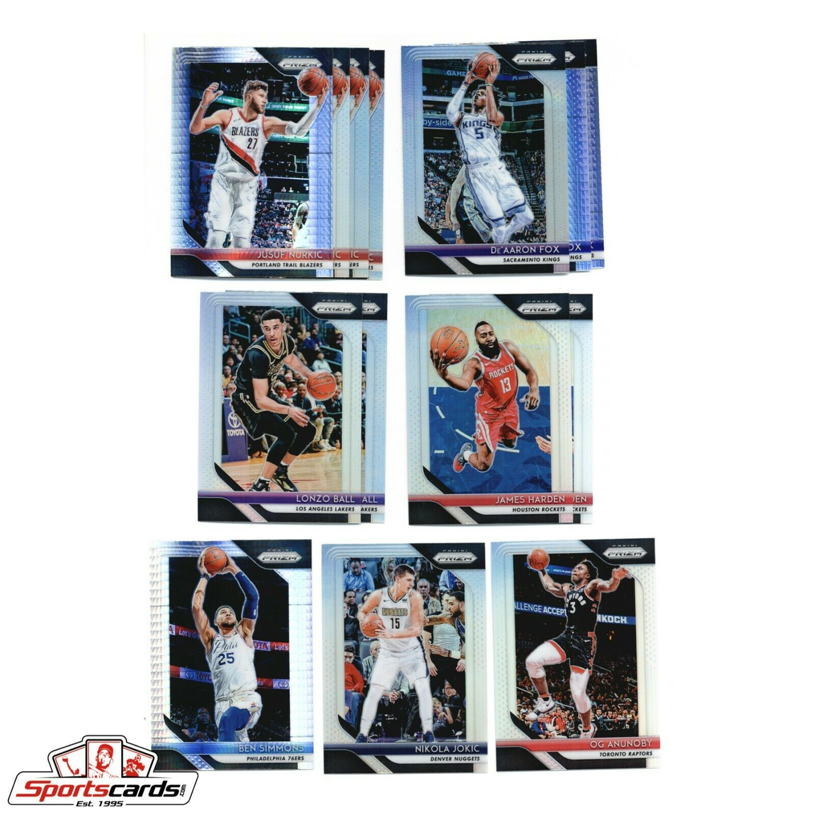 2018-19 Panini Prizm Lot of 32 Cards Bam Booker Ball Harden Chamberlain Dr. J