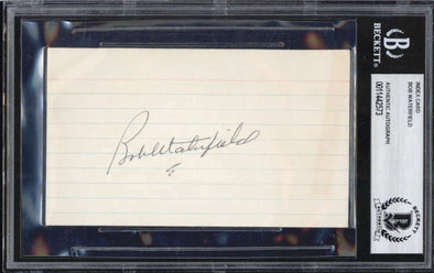 Bob Waterfield D.1983 Los Angeles Rams NFL Signed 3x5 Index Card BAS