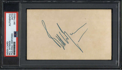 "Bill Wyman Musician Rolling Stones Signed 3"" x 5"" Index Card  PSA/DNA"
