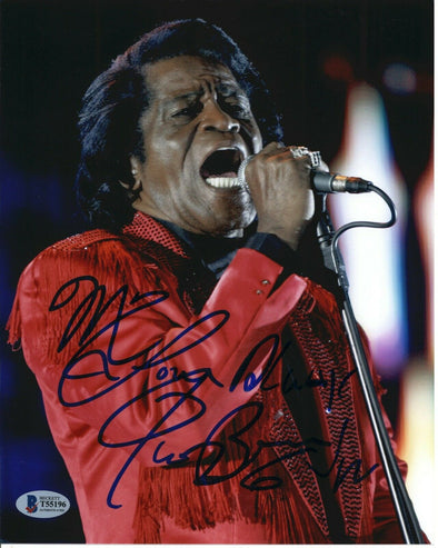 James Brown Singer Songwriter Signed 8x10 Photo Beckett Auto Godfather of Soul