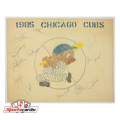 1985 Chicago Cubs Team Signed Auto 11x14 Original Art Print Sandberg, Smith, Cey