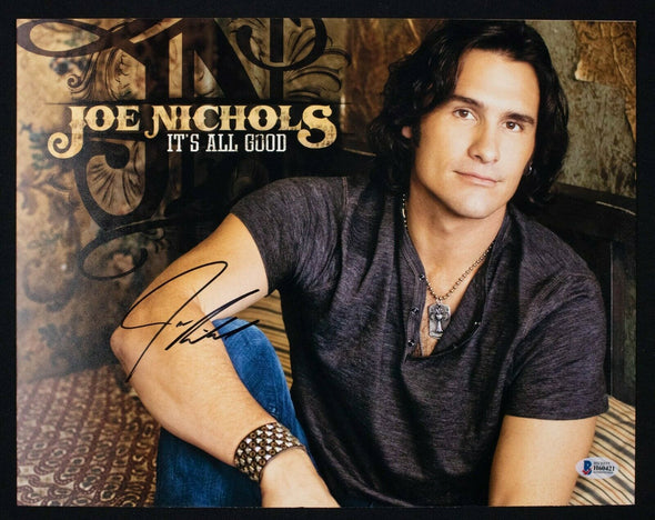 Joe Nichols Signed 11x14 Photo Singer BAS Beckett COA