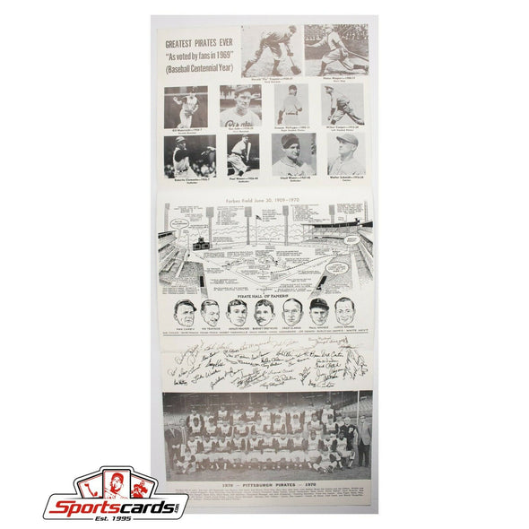 Forbes Field Final Game Souvenir Sheet June 28, 1970 Pittsburgh Pirates