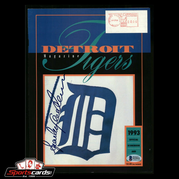 Sparky Anderson Signed 1993 Detroit Tigers Program BAS Beckett Auto
