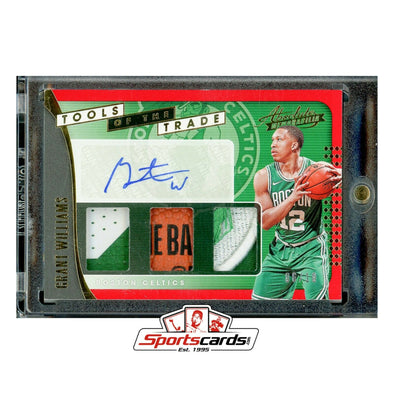Grant Williams 2019-20 Absolute Tools of the Trade Auto Logo Patch RC #/10