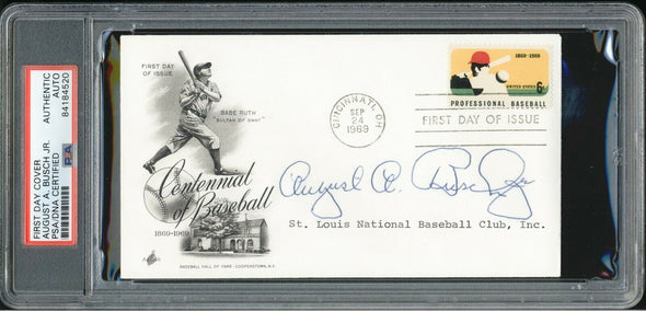August A. Busch Jr. Signed FDC PSA/DNA Auto 1969 Centennial of Baseball