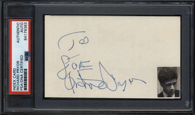 Richard Pryor D.2005 Comedian Actor Signed Auto 3x5 Index Card PSA/DNA