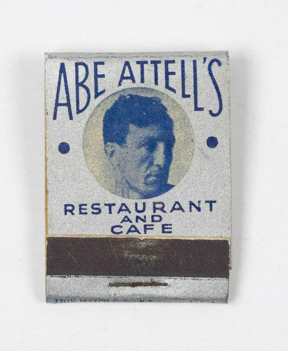 ABE ATTELL Restaurant matchbook Unused With Matches 1901 Boxing Champion